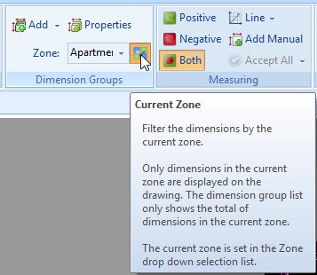 Zone drop down box