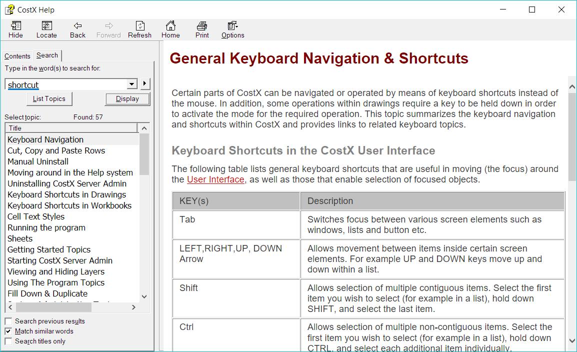 Choose to display Keyboard Navigation