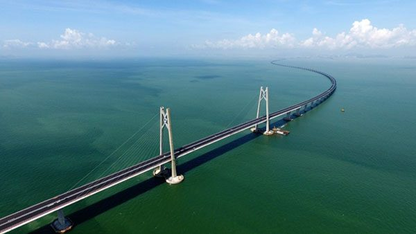 The Hong Kong-Zhuhai-Macau Bridge: Pearl River Delta, China