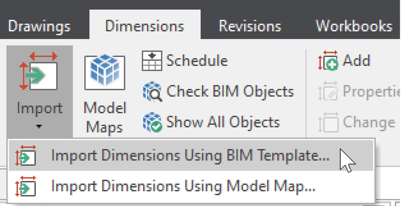 iTWO costX Import Dimensions Using a BIM Template.png